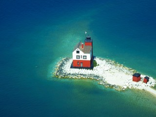 House on a Tiny Island, Mackinac Island, Michigan
